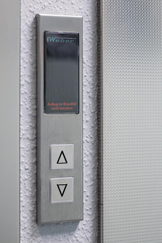 Aufzug Rufknopf aus Edelstahl