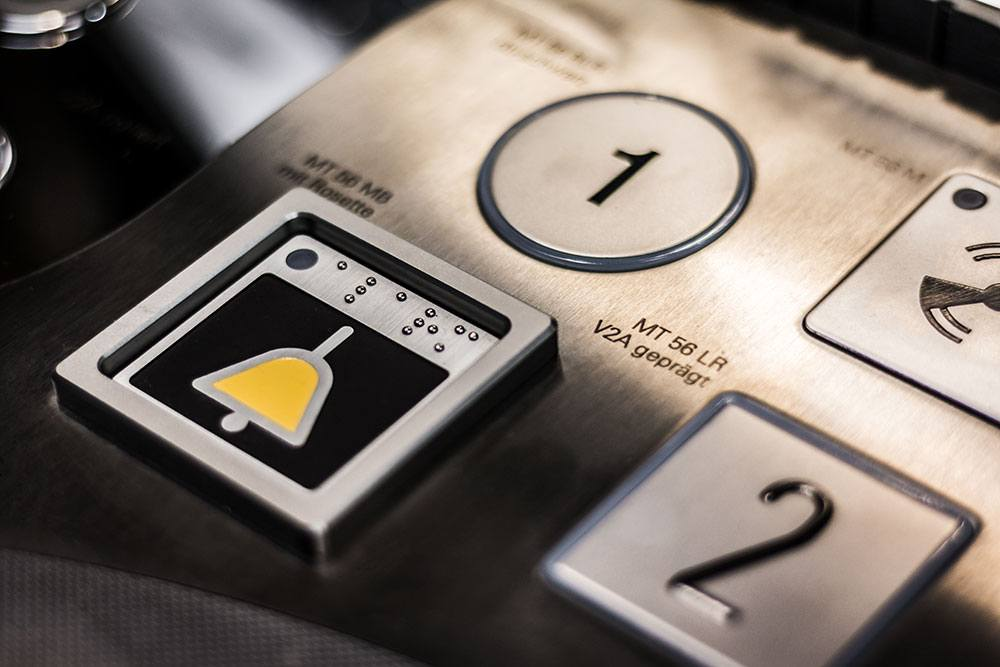 Bedienknöpfe für Aufzüge Edelstahl