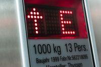 Digitale Anzeige im Aufzug von Thyssen