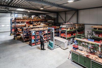 Lager für Aufzugersatzteile in Mönchengladbach