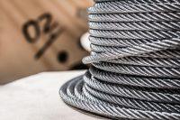 Stahlseile für Aufzüge Detailaufnahme